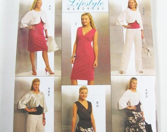 Butterick Wardrobe Pattern B5188 - Misses' Jacket, Top, Dress, Skirt and Pants - Sz 6/8/10/12