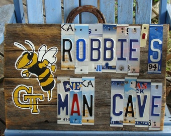 Custom License Plate Sign, License Plate Decor, Personalized Signs, Team Signs, Man Cave Decor, Garage Sign, Birthday Gifts, Christmas Gift
