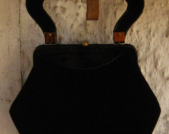 Sweet N Chic Night Out On The Town Black Velvet Purse