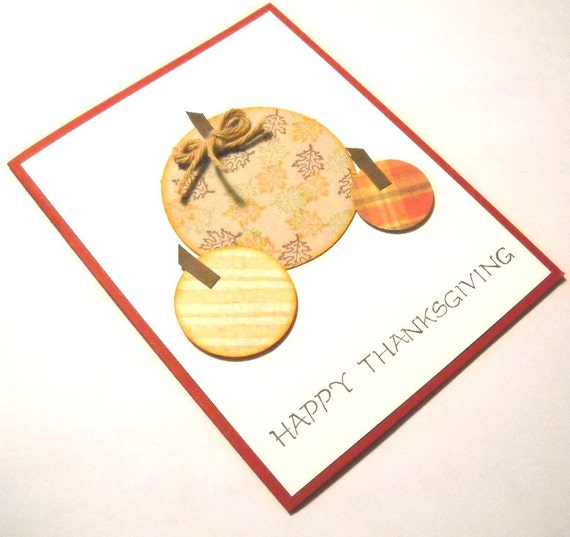 Thanksgiving Card - Cottage Chic Pumpkin Patch