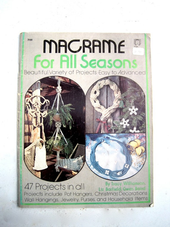 Macrame Accessory Pattern Book - Macrame Chair Household Items - Christmas Wreath Knotted