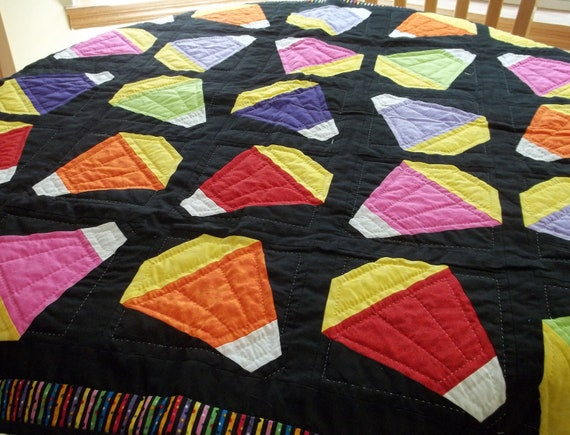 Lap quilt,Fall quilt,Handquilted Fall quilt,Candycorn,Harvest,Octoberfest,Wall decor