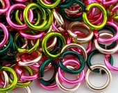 JUMP RINGS - 18-Gauge AWG Enameled Copper Jump Rings - Rose Garden Mix - 1 Ounce - Pick Your Size!
