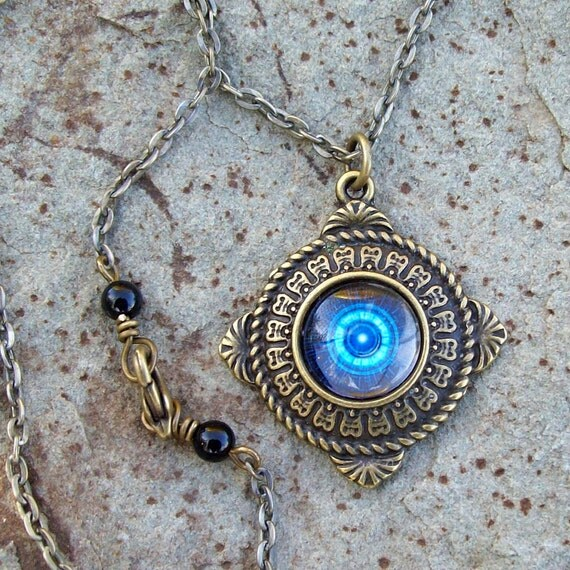 Fortune Teller Eye - Gypsy - Pendant Necklace