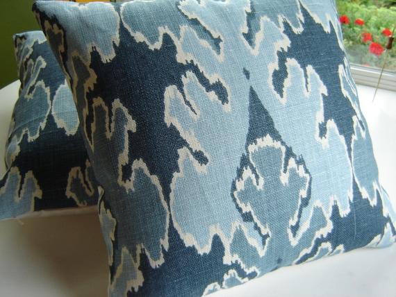 Kelly Wearstler BENGAL BAZAAR Teal Pillow Cover, 18 inch