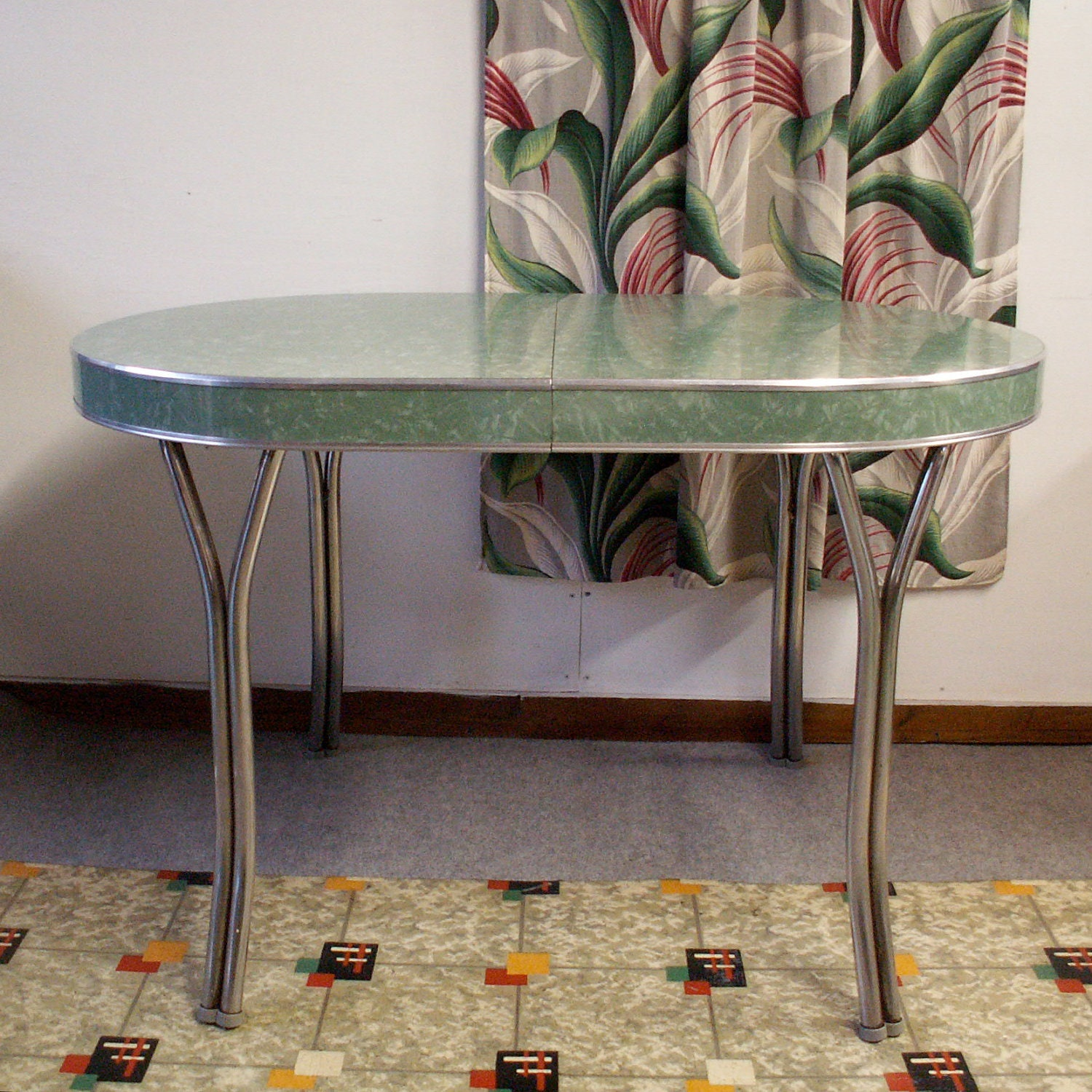 Vintage Green Formica Table
