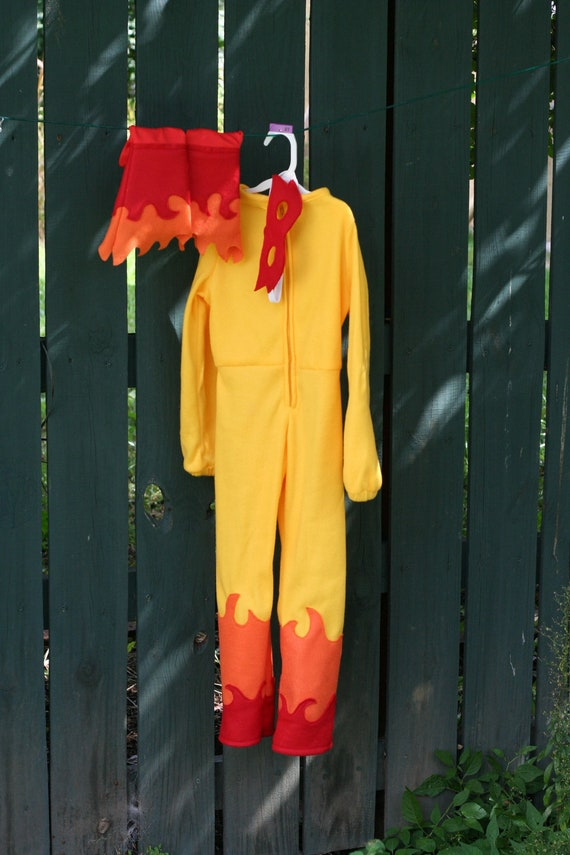 Child Firestar Costume MADE TO ORDER Cotton 2T 3T 4T 5T 6 7 8 9 10
