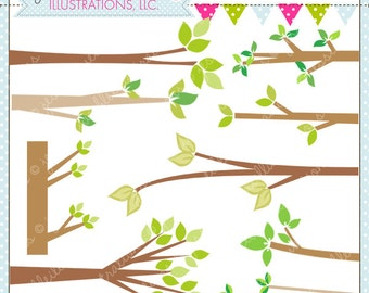Branches Cute Digital Clipart for Commercial or Personal Use, Tree Branch, Branch Clipart, Branch Graphics
