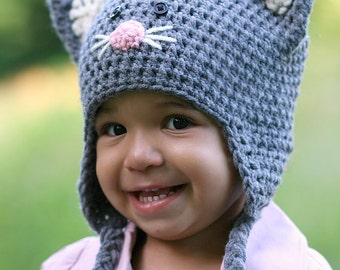 Kitten Cat Crochet Animal Hat