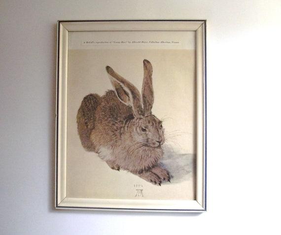 """Framed Vintage """"Young Hare"""" by Albrecht Durer Art Print"""