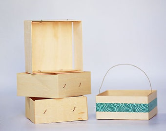12- 1/2 Pint Size Wooden Berry Boxes