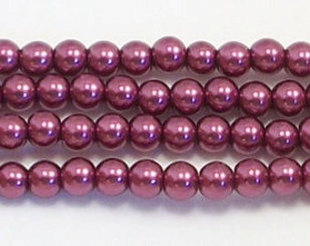 3mm Wine Glass Pearls - 1 strand