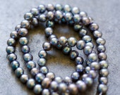 Metallic Grey Freshwater Pearls - 16 inch strand - ONLY ONE
