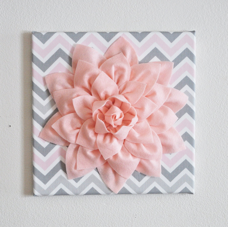 Nursery flower wall decor dahlia wall art 12 x zoom amipublicfo Choice Image
