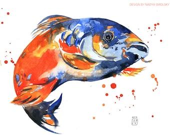 Original watercolor of Fish