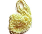 Light Yellow Market Tote - String Bag - Fishnet Grocery Bag