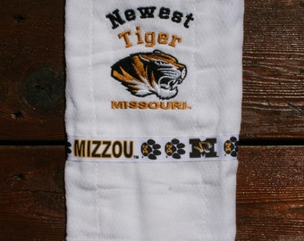 Newest Tiger Mizzou Baby Burp Cloth