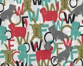WOOF Dog Speak I Spy Talking Dogs Fabric By the Fat Quarter BTFQ