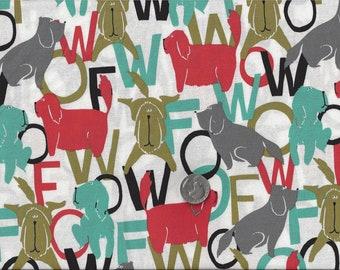 WOOF Dog Speak I Spy Talking Dogs Fabric By the Fat Quarter BTFQ