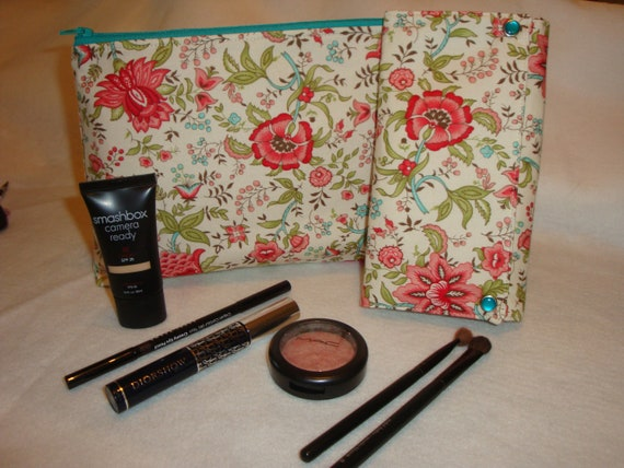 Makeup Set with Makeup Pouch and Brush Wallet