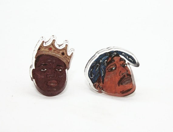 East vs. West Acrylic Stud Earrings