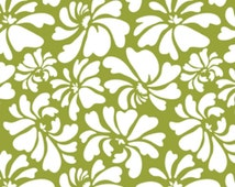 Riley Blake Fabrics, Posies in Green, Dainty Blossoms Collection, 1 Yard Total, Additional Yardage Available