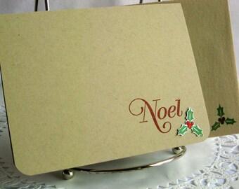 Christmas Cards Set of 25 Simple Handmade Noel Holiday Greeting Card Set