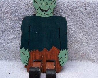 Handmade Wooden Table top sitting Frankenstein