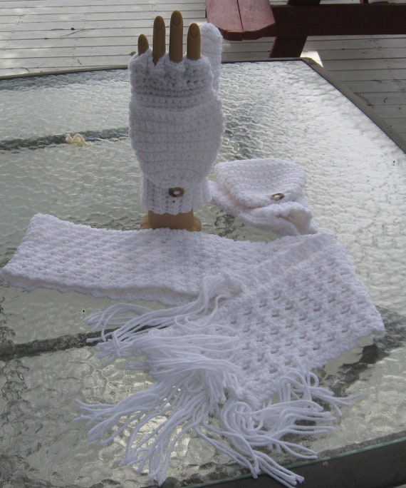 Convertible Gloves with matching scarf