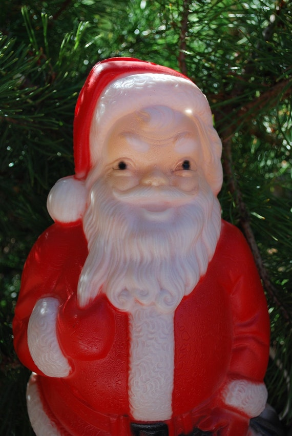 Vintage 1960's Empire Blow Mold Light Up Santa with Cord