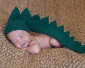 Baby Infant Newborn  dinosaur dragon crocodile alligator green hat. Costume party  ooak  Ready to ship  Photo Prop
