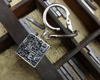 Letterpress Type Keychain