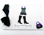 Personalised Birthday Black and Purple Book