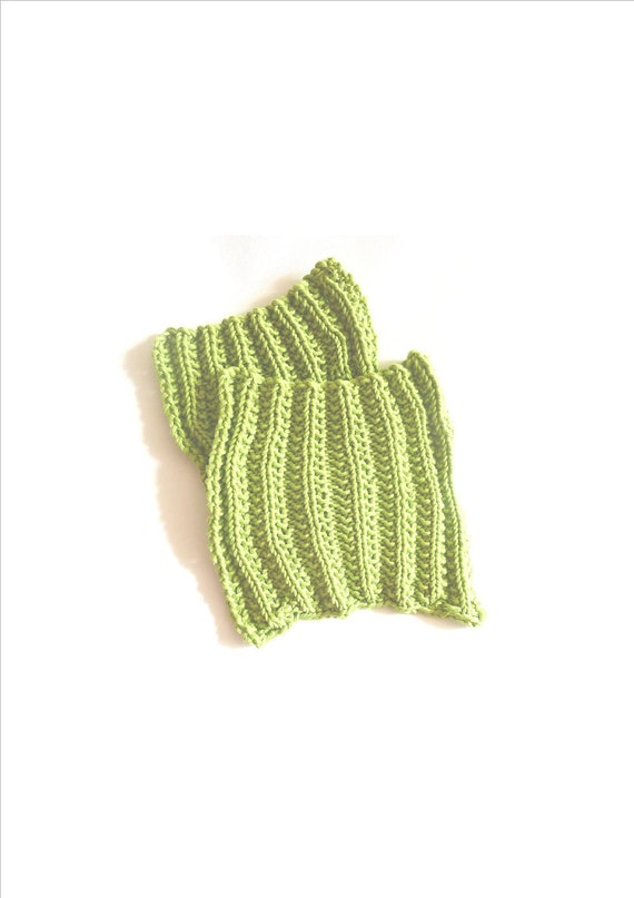wash cloth dish cloths in eco fairtrade  cotton green hand knitted