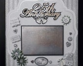 25th WEDDING ANNIVERSARY Premade Memory Album Page (Shadow Box Frame Sold Separately)