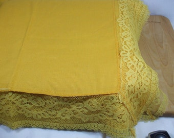 Vintage  Gold Lace Table cloth