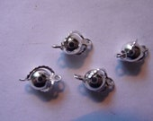 SALE!!  Links, Silver plated, brass, wrapped, round connector, 8mm,  Pkg of 12  SALE!!