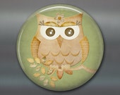 cute owl fridge magnet, owl decor, kitchen decor, large fridge magnet, big magnet for fridge MA-121