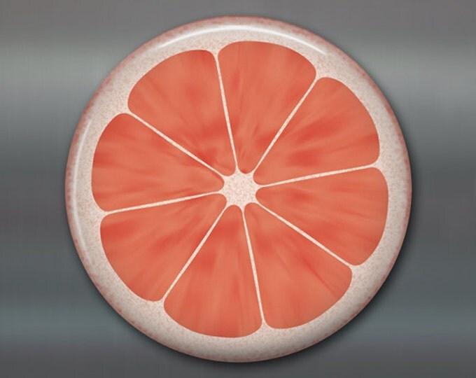 pink grapefruit art for the kitchen - kitchen art decor - gift ideas for the kitchen - fridge magnet kitchen decor - MA-1606