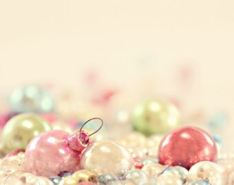 vintage Christmas balls-Christmas photography - winter decor- holiday photo- (5 x 7 Original fine art photography prints) FREE Shipping