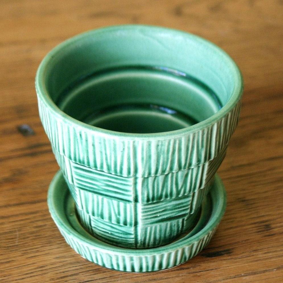 reserved for robin vintage mccoy pottery planter by sariloaf