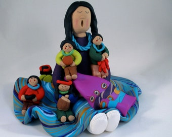 Mother's Day Native American Indian Storyteller Figure
