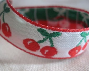 CHERRY jacquard ribbon