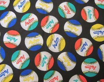 Joe Boxer Baseball Fabric 1  yd