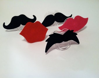Mustache Pacifier OR Lip Pacifier perfect Baby Shower Gift