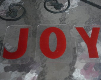 Vintage Zip Change Letters J O Y