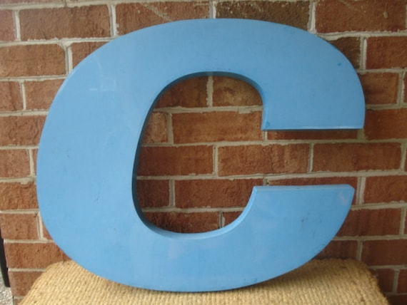 Vintage Very Large Advertising Letter C from Amoco Sign