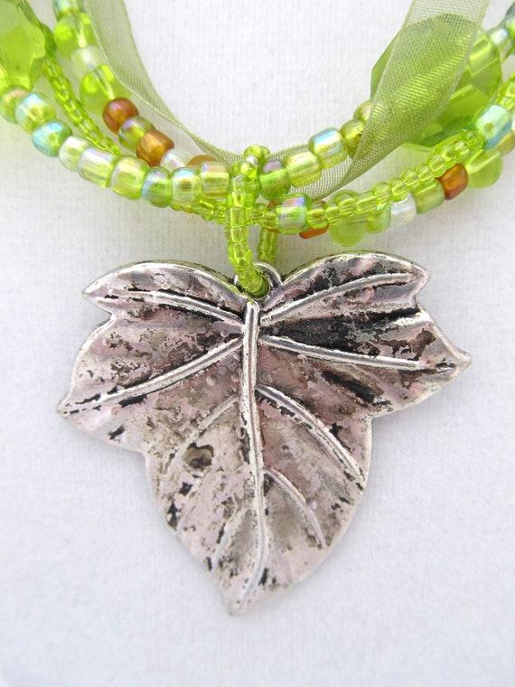 Lime Leaf Pendant Set