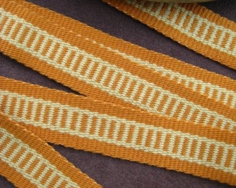 Cotton Sash or Strap Woven in Shades of Gold - Sale Price