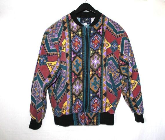 90s Arizona Print Zip Up Jacket